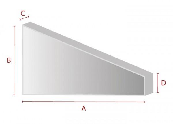 Rechteck mit Abschnitt - Schaumstoff Zuschnitt