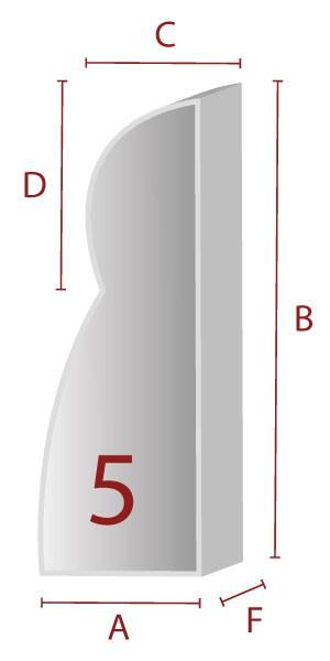 Zuschnitt für ergonomische Lehne - 5