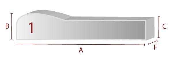 Ergonomische Sitzform 1 - Schaumstoff Zuschnitt