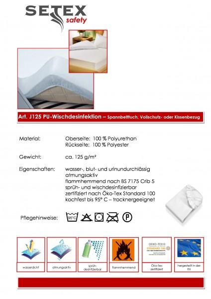 PU-Spannbetttuch - Desinfizierbar