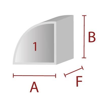 Anleimer 1 - Zuschnitt für Kanten / Sitzbereich