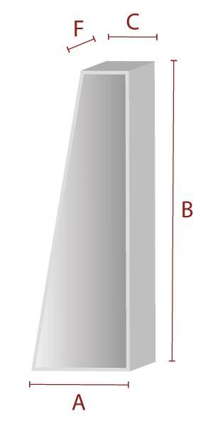 Rechteck mit Anschnitt (hoch) - Schaumstoff Zuschnitt