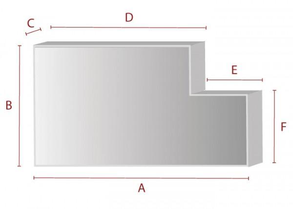 Rechteck mit Ausschnitt - Schaumstoff Zuschnitt