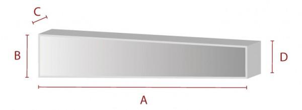 Rechteck mit Anschnitt - Schaumstoff Zuschnitt
