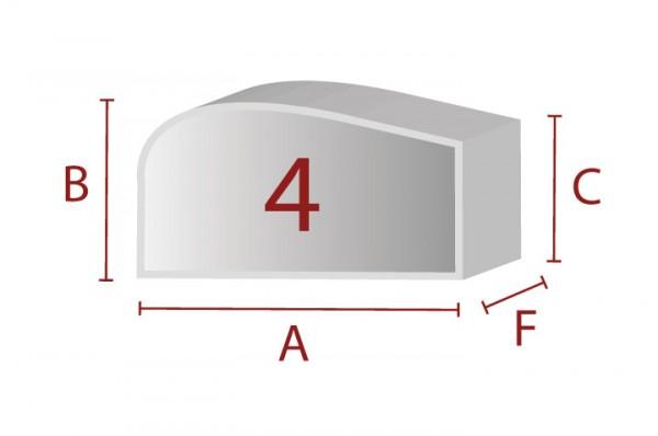 Ergonomische Sitzform 4 - Schaumstoff Zuschnitt