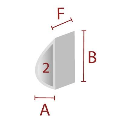 Anleimer 2 - Zuschnitt für Kanten / Sitzbereich