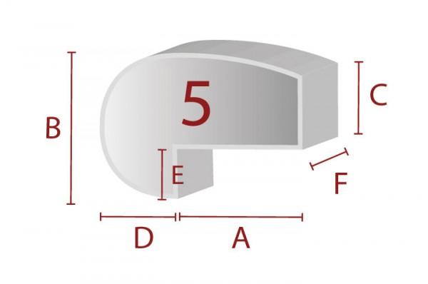 Ergonomische Sitzform 5 - Schaumstoff Zuschnitt
