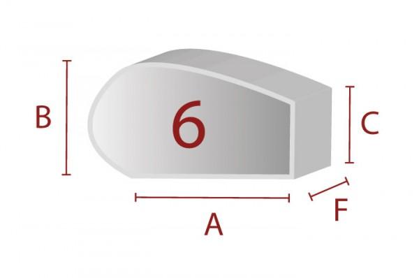 Ergonomische Sitzform 6 - Schaumstoff Zuschnitt